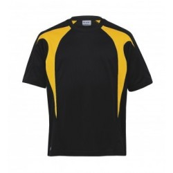 Dri Gear Spliced Zenith Tee Black/Gold  - DGST