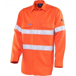Shirt Inherent Fire Retardant HRC 1 w. Loxy FR Tape - TS1500T1