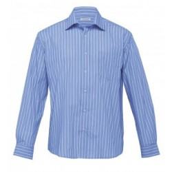 The Euro Corporate Stripe Shirt Blue/White - Mens - ES