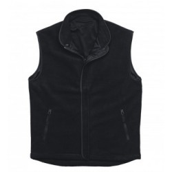 Lined Polar Fleece Vest Black - LPV