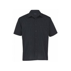 The Omega Stripe Short Sleeve Shirt - Mens - TOSS
