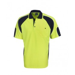 Hi Vis Cooldry Side Panel Polo, S/S - P87