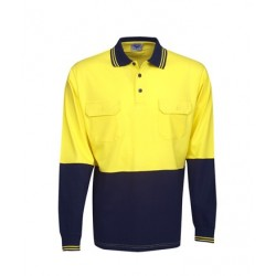 100% Cotton Hi Vis L/S polo, Day Use - P93