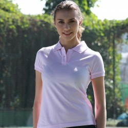 PIQUE KNIT FITTED COTTON/SPANDEX POLO - CP0756