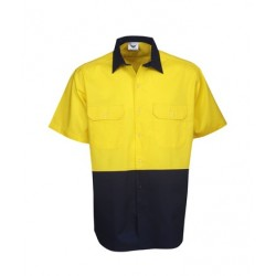 155g Hi Vis Drill Shirts, S/S, Day Use - C82