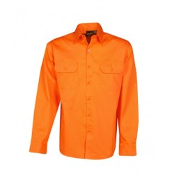 155g Hi Vis Twill Shirts, L/S, Day Use - C85