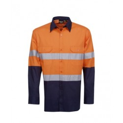 155g Hi Vis Drill Shirts, L/S, D/N Use - C91