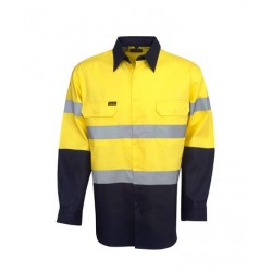 190g Hi Vis Drill Shirts, L/S, D/N Use - C93