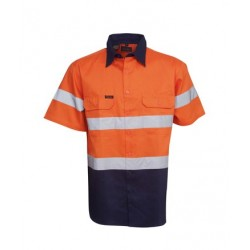 190g Hi Vis Drill Shirts, S/S, D/N Use - C94