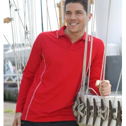 STITCH FEATURE ESSENTIALS-MEN'S LONG SLEEVE POLO - CP0912