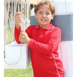 STITCH FEATURE ESSENTIALS-KIDS LONG SLEEVE POLO - CP0922