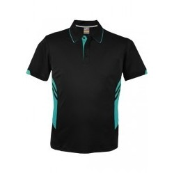 Kids Tasman Polo Black/Teal - 3311