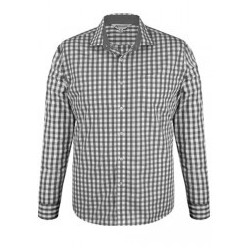 Mens Devonport Long Sleeve Charcoal/Silver - 1908L