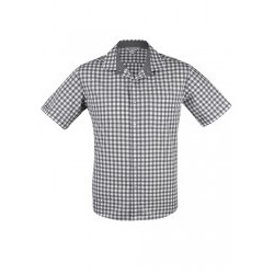 Mens Devonport Short Sleeve Shirt Charcoal/Silver - 1908S