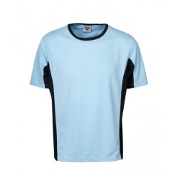 Cooldry Contrast Panel T-Shirt, Children - T42K