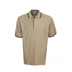 Pique Polo with Striped Collar and Cuff - P51