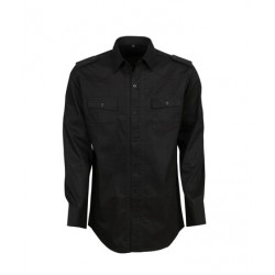 Modern Fit Cotton Military Shirt - B06