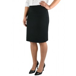 Ladies Knee Length Skirt Black - 2802