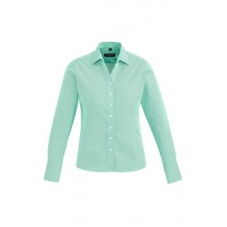 Hudson Ladies Long Sleeve Shirt Dynasty Green - 40310