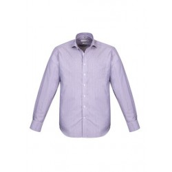 Calais Mens Long Sleeve Shirt Purple Reign - 41710