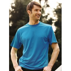 ADULTS PLAIN BREEZEWAY MICROMESH TEE SHIRT - CT1207