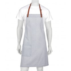 BYRON Denim Bib Apron with PVC Detachable Strap (A21) - A19