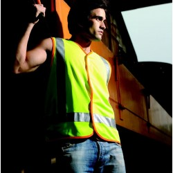 HI-VIS VEST WITH REFLECTIVE TAPE - SJ0322