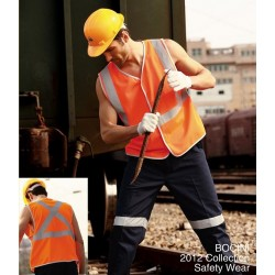 HI-VIS VEST WITH CROSSING TAPE - SJ0323