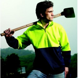 HI-VIS 1/2 ZIP FLEECE - SJ0411
