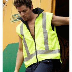 HI-VIS REVERSIBLE VEST WITH REFLECTIVE TAPE - SJ0428
