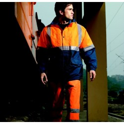HI-VIS POLAR FLEECE LINED JACKET WITH TAPE - SJ0430