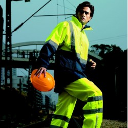 HI-VIS MESH LINING JACKET WITH REFLECTIVE TAPE - SJ0432