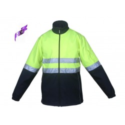 HI-VIS SOFT SHELL JACKET WITH TAPE - SJ1103