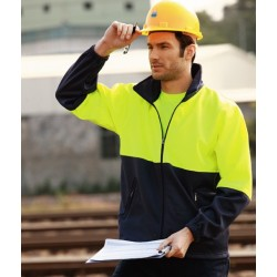 HI-VIS FULL ZIP FLEECE - SJ1237
