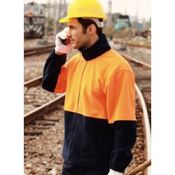 HI-VIS FULL ZIP POLAR FLEECE - SJ1238