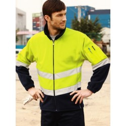 HI-VIS FULL ZIP POLAR FLEECE WITH 3M TAPE - SJ1239