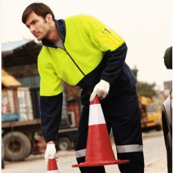 HI-VIS 1/2 ZIP POLAR FLEECE - SJ1240