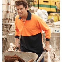 HI-VIS POLY/COTTON POLO -LONG SLEEVE - SP0380