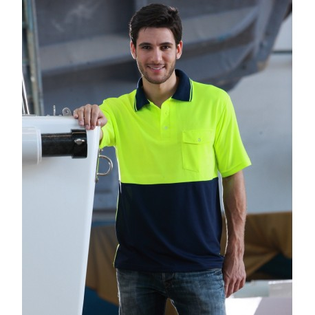 HI-VIS SAFETY POLO -SHORT SLEEVE - SP0427