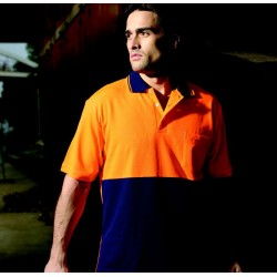 HI-VIS POLYFACE/COTTON BACK POLO -S/S - SP0538