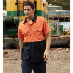 HI-VIS COTTON TWILL SHIRT S/S - SS1012