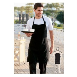 COTTON DRILL FULL BIB APRON -NO POCKET - WA0397