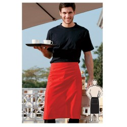 POLYESTER DRILL THREE QUARTER APRON -NO POCKET - WA0654