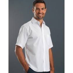 Men's Short Sleeve Window Check - 231