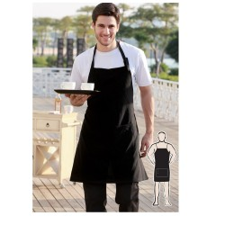 POLYESTER DRILL FULL BIB APRON -WITH POCKET - WA0677