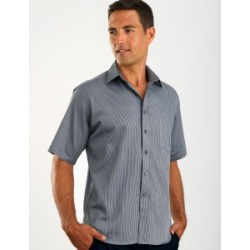 Mens Short Sleeve Pin Stripe - 463
