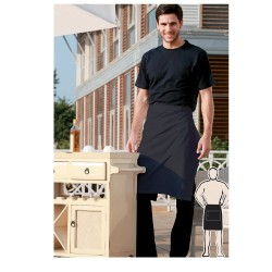 POLYESTER DRILL HALF APRON -NO POCKET - WA0678