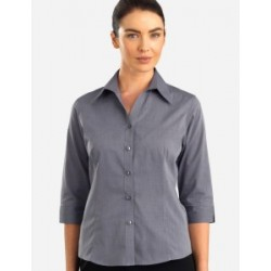 Womens 3/4 Sleeve Chambray Graphite - 160