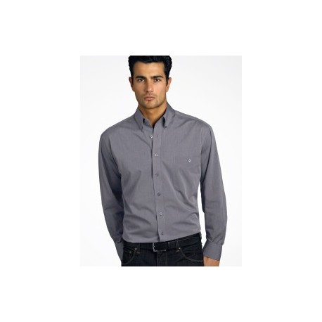Mens Long Sleeve Chambray Graphite - 264