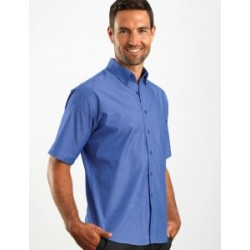 Mens Short Sleeve Chambray Indigo - 265